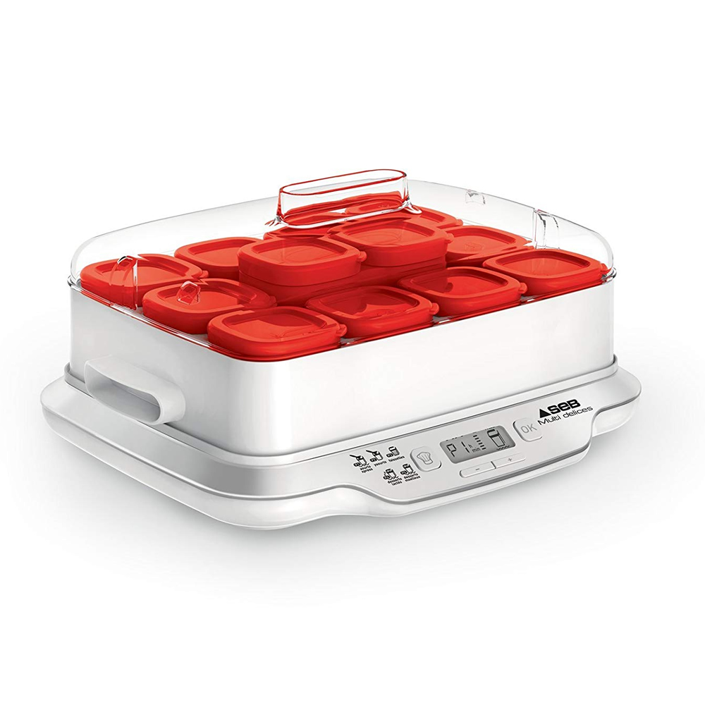Yaourtiere Multi Delices Express Rouge 12 Pots Eceg
